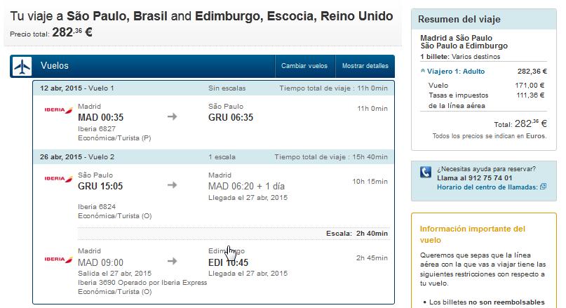 Brasil por 282 euros