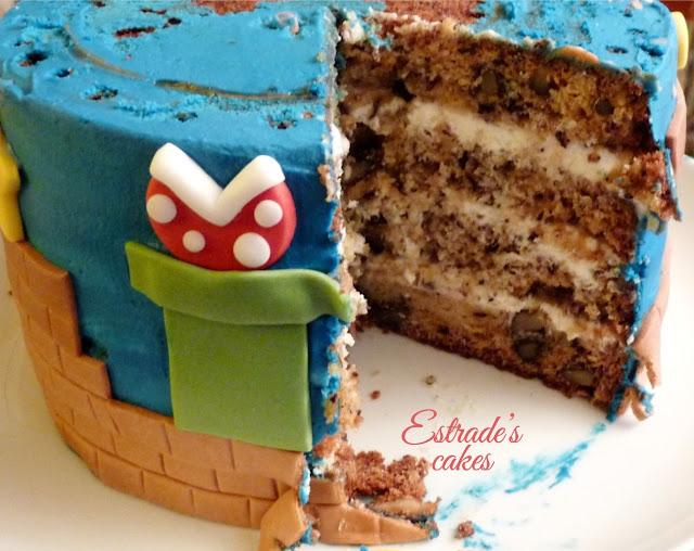 Tarta Mario Bros - corte