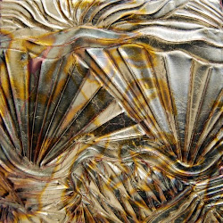 Artist Sharon Orella Carved Copper Art Colored With Metal Dye