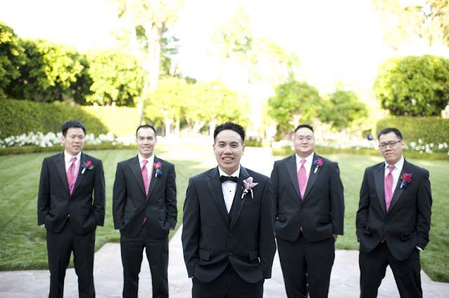 Groom and Groomsmen - Disneyland Wedding {Sarina Love Photography}