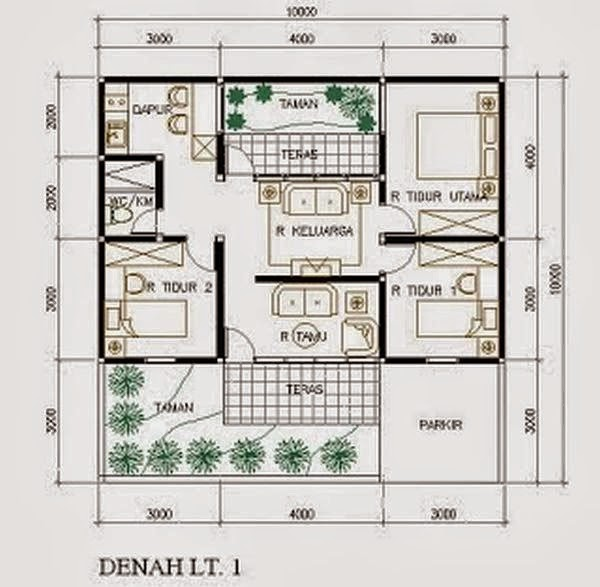 model rumah minimalis Type 45 7