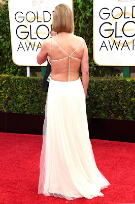 Rosamund Pike daring cut-out gown 72nd Annual Golden Globe Awards red carpet dresses