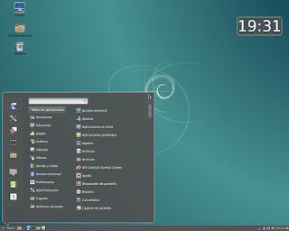 Escritorio Debian 8 Cinnamon