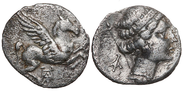 Silver drachm (reduced standard) of Herakleia in Akarnania, c. 330-280 BCE