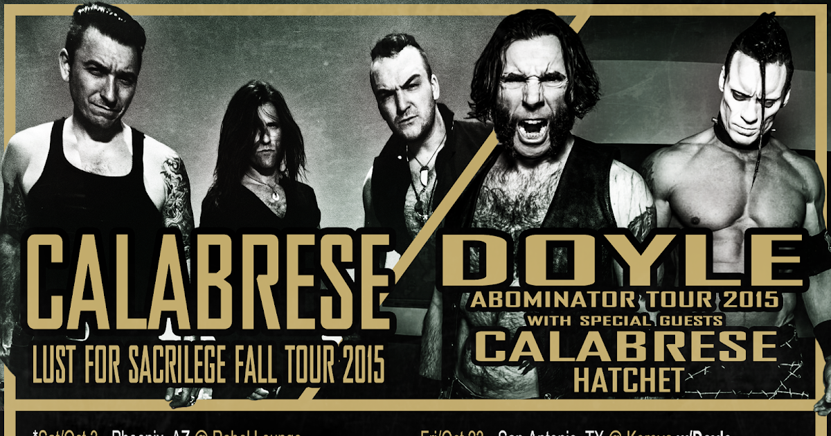 calabrese the official blog lust for sacrilege fall tour 2015 - Calabrese 13 Halloweens