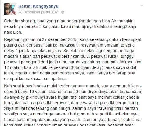 Penumpang Bertaruh Nyawa dengan Lion Air