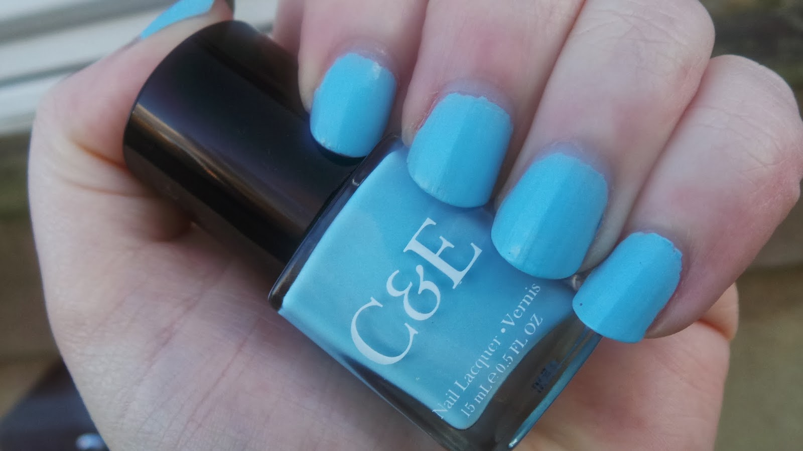 perfect sky blue nail polish