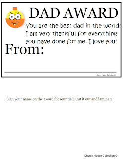 Fathers day certificates munchkins and mayhem church house collection has a more kid inspired version yadclub Image collections