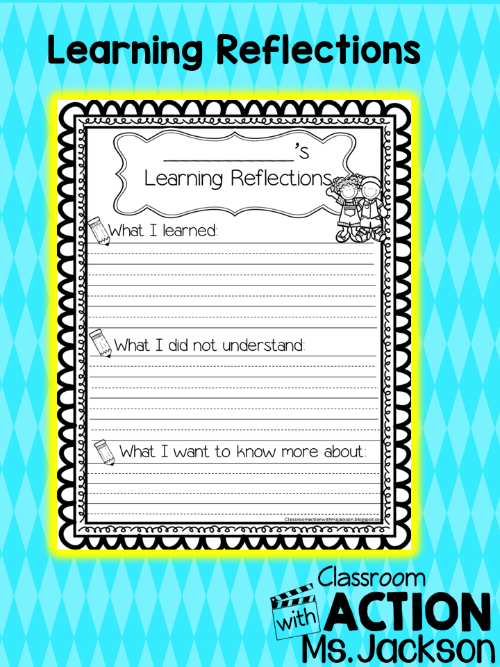 http://www.teacherspayteachers.com/Product/Learning-Reflection-1614933
