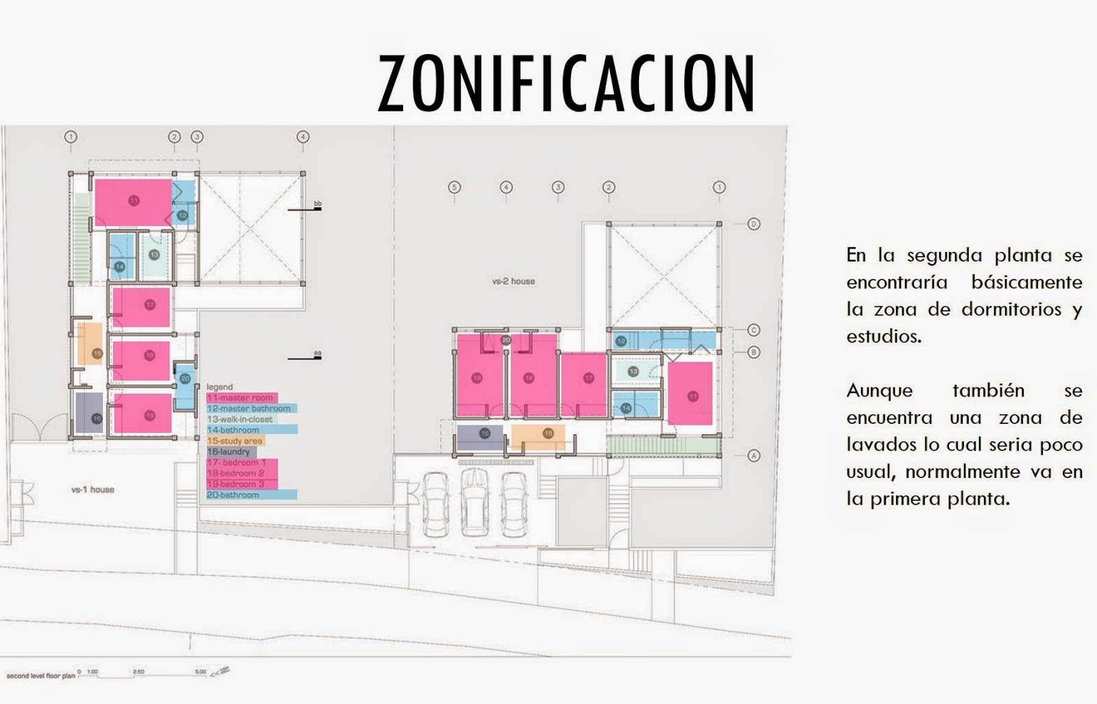 Arquitectura universidad del norte ejemplos casas for Zonificacion arquitectonica