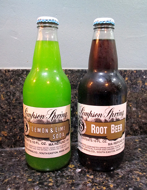 Simpson Spring Lemon & Lime and Root Beer