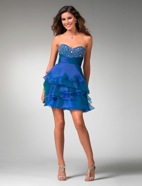 Taşlı straplez gece mavisi mini mezuniyet elbise modeli yeni sezon