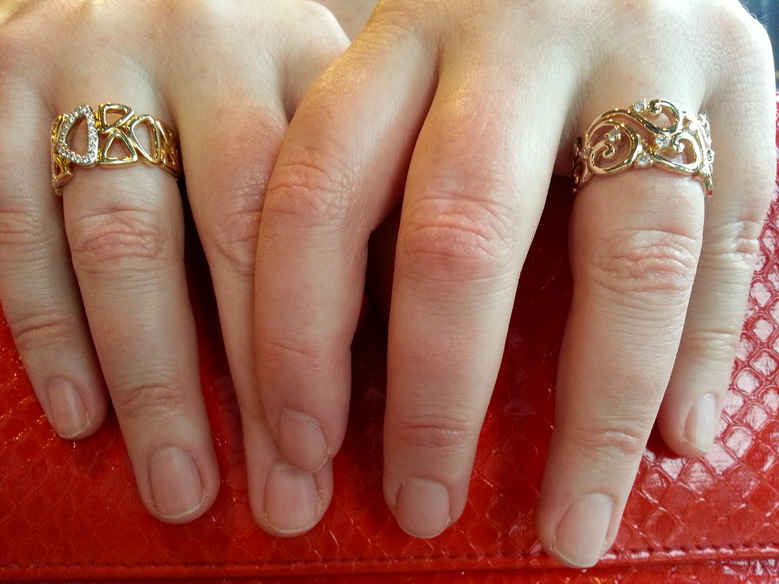 Left Gold And Diamond Ring: Birks; Right Gold And Diamond Ring: Effy