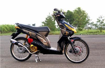 Foto Modifikasi Motor Honda Beat Hitam