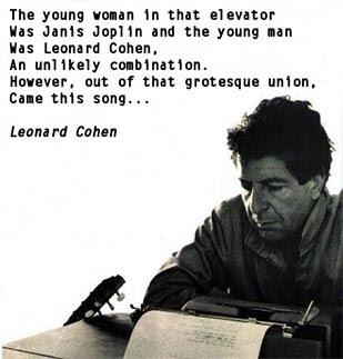 leonard cohen letras en: