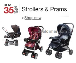 Up to 35% off Strollers & Prams
