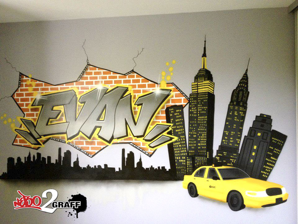 D coration graff int rieur d co ext rieur d co chambre d for Deco de chambre new york
