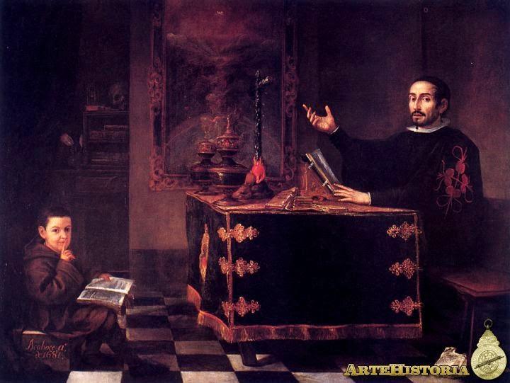 Miguel de Mañara Leyendo Reglas de la Santa Caridad - Valdés Leal