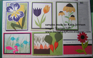 Punch Art Cards Made with Stampin'UP!'s Blossom Builder Punch