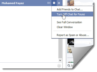 chat turn on facebook for friend