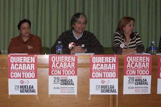 Asamblea sobre la Huelga General en Vilafranca