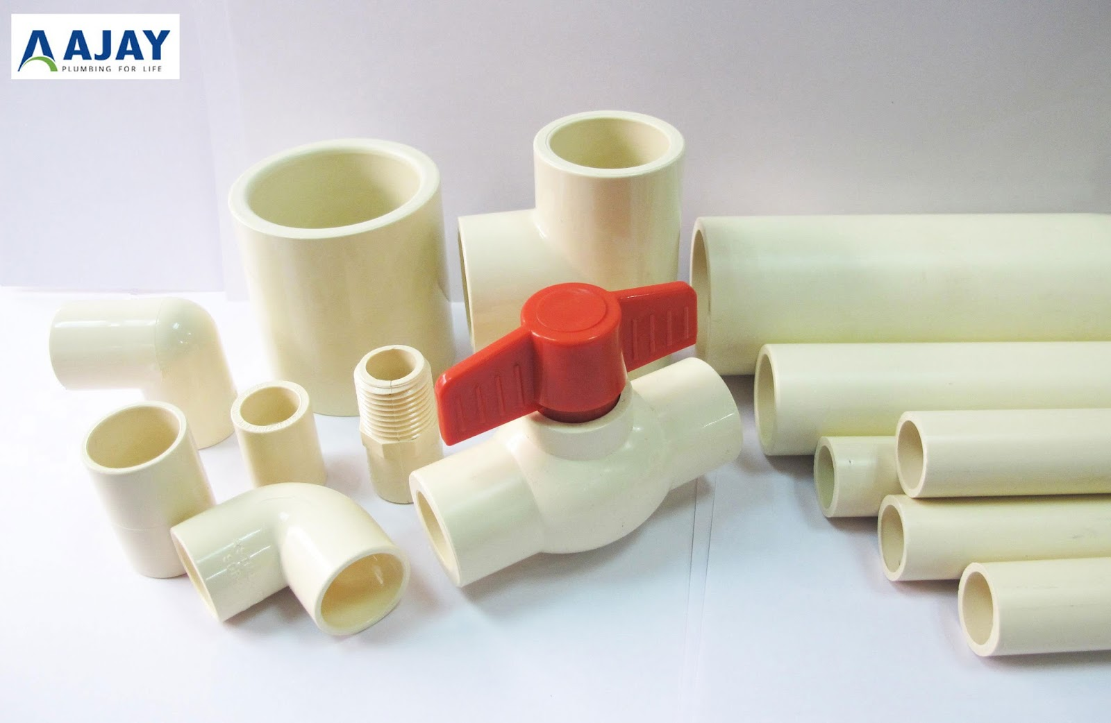 Cpvc pvc upvc plastic pipes fittings in india the for Water line pipe material