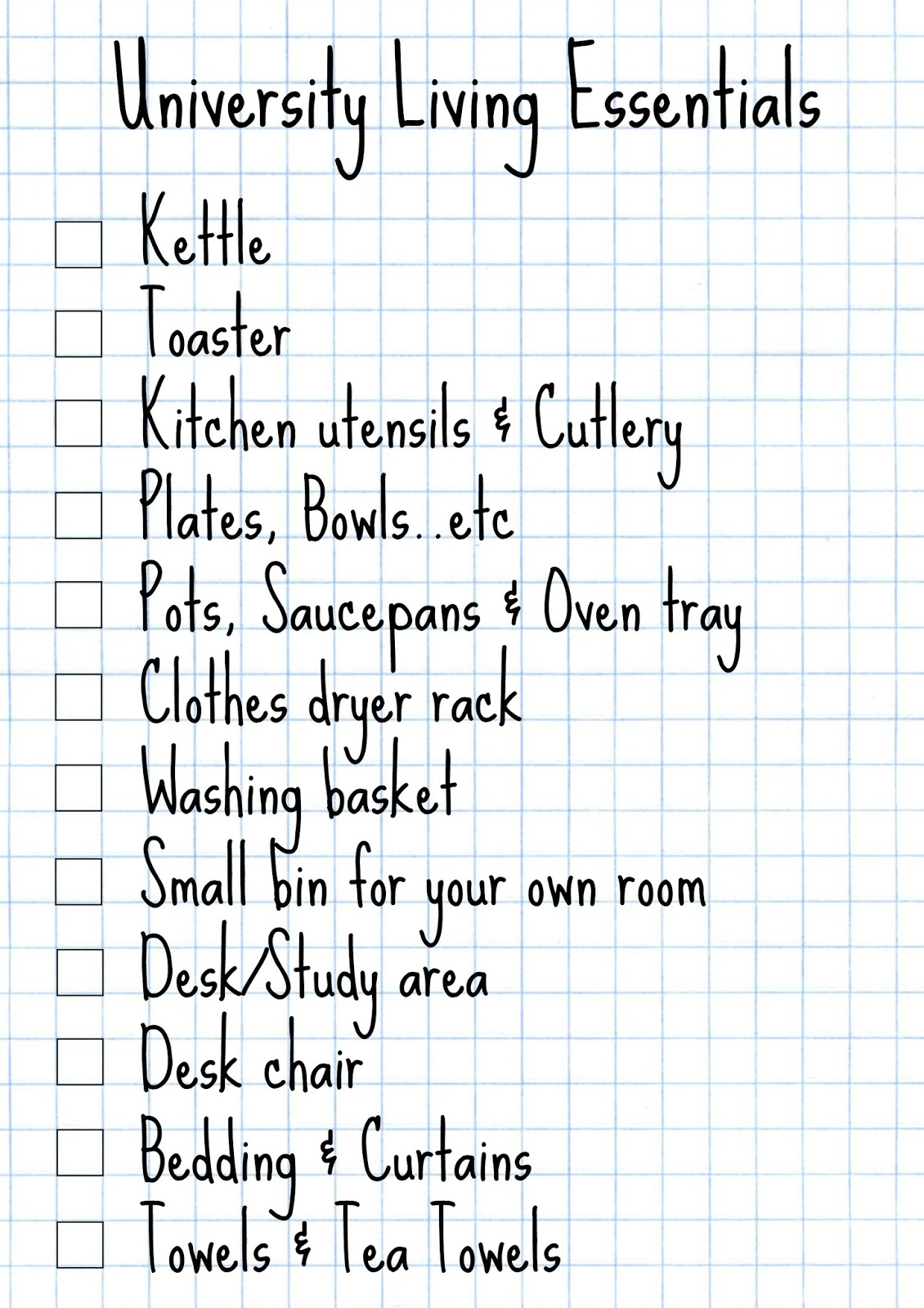 These Lists Dont Include A Stationary List As I Put That In My Back To School Essentials Post