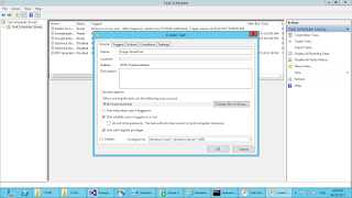 Create task powershell with task sheduler