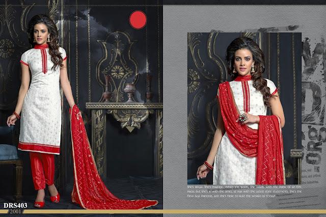 Chanderi Cotton Casual Churidar Dress Material