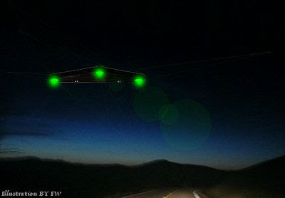 Triangular Shaped UFO Over Brecon Beacons, SouthWales 12-11-12