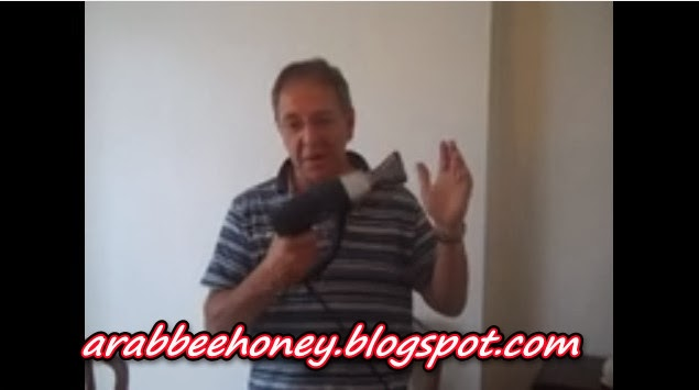 Bee Spencer - Uncapping Honey the easy way, no mess, no waste PART TWO
