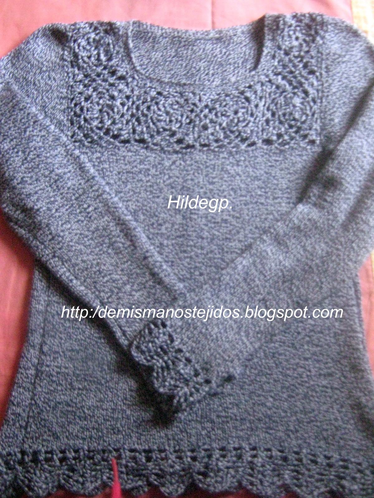Chompa En Dos Agujas Y Crochet