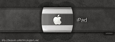 Couverture facebook ipad sur cuir