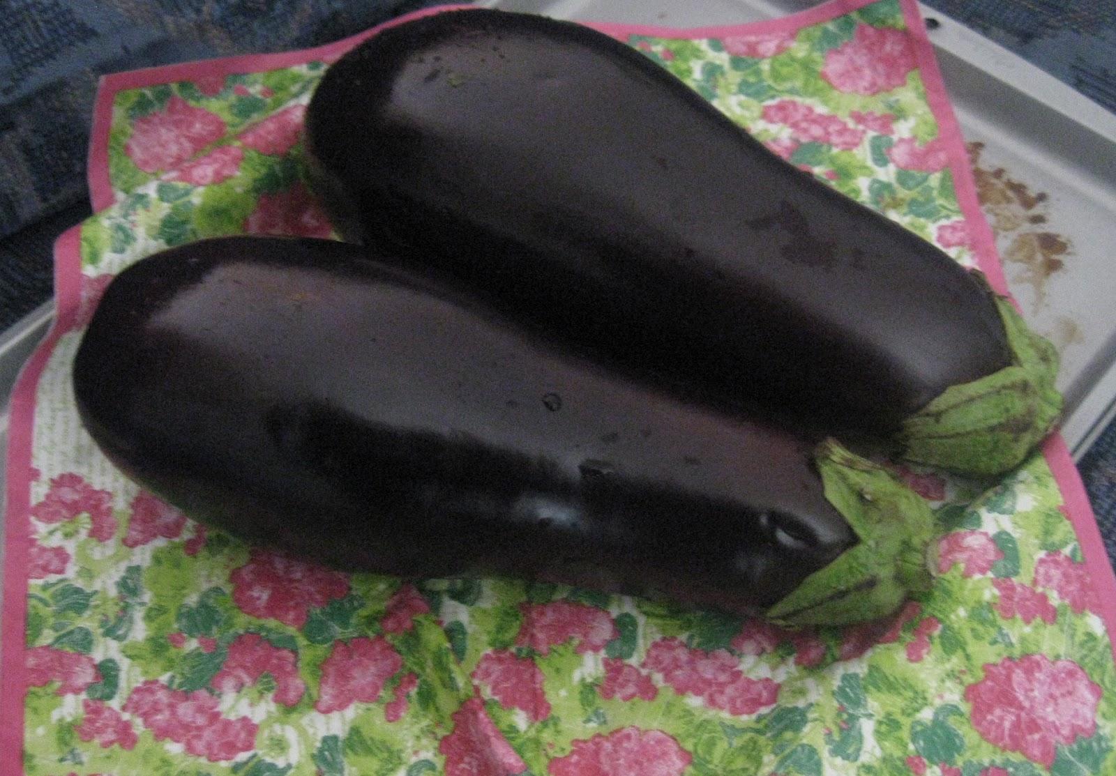 2 eggplants
