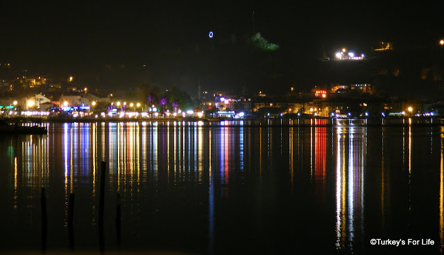 Fethiye Harbour Nightime Photo