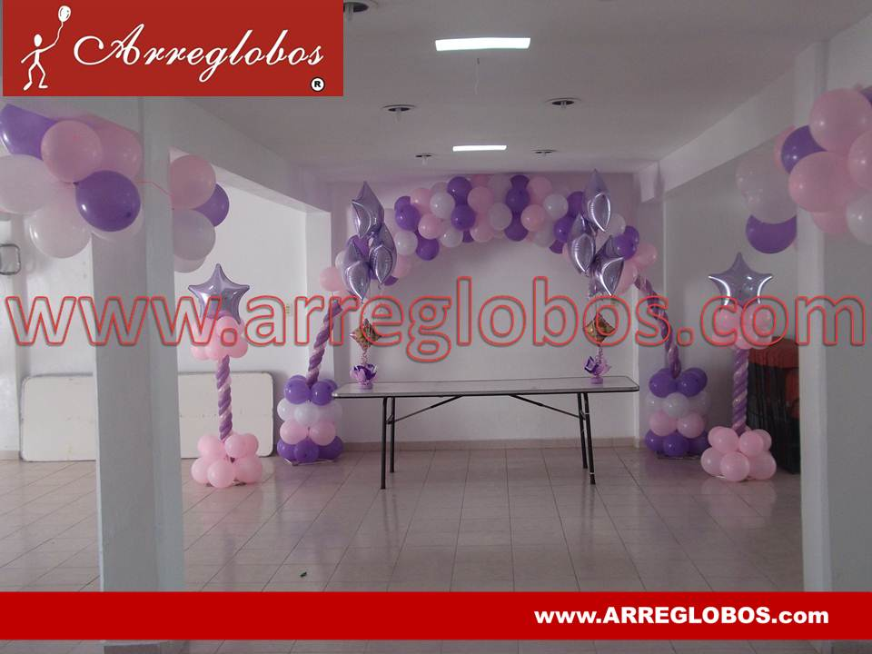 Decoraci n con globos para baby shower arreglobos for Decoracion para pared de baby shower