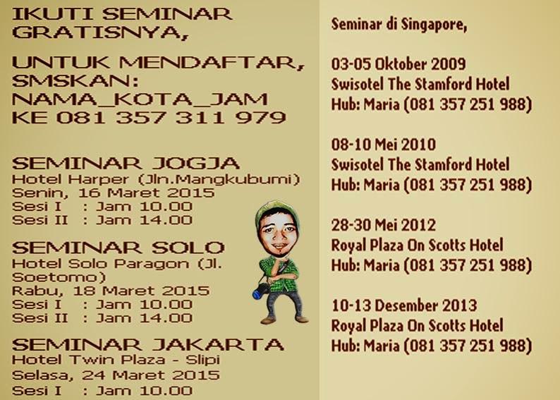 Jadwal Seminar Cipto Junaedy