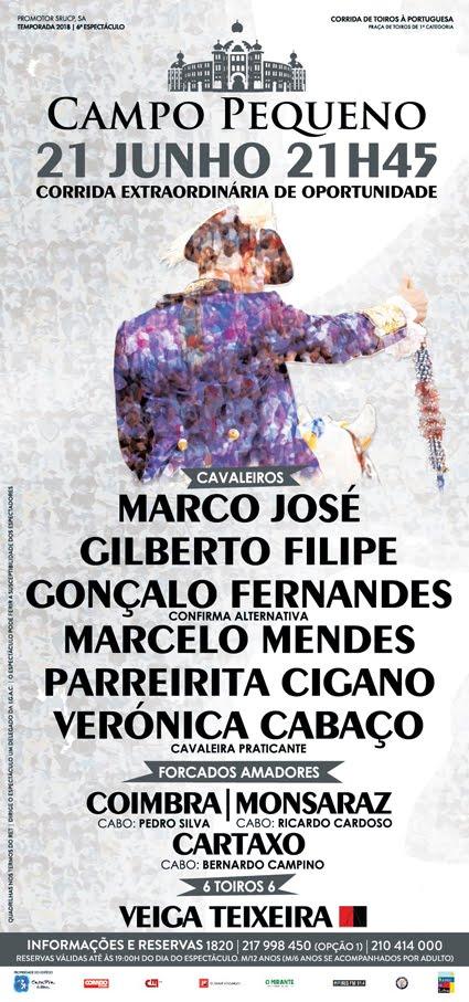 CAMPO PEQUENO (LISBOA) 21-06-18 CORRIDA A PORTUGUESA.