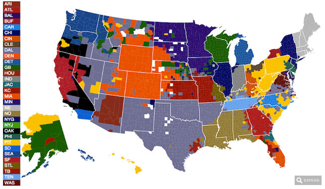 Spatialworlds Getting Personal Sports Geography - Map of us sports teams