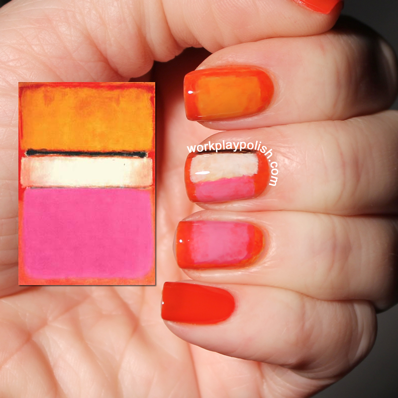 Rothko White Center Nail Art (work / play / polish)