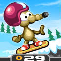 Rat On A Snowboard Icon Logo