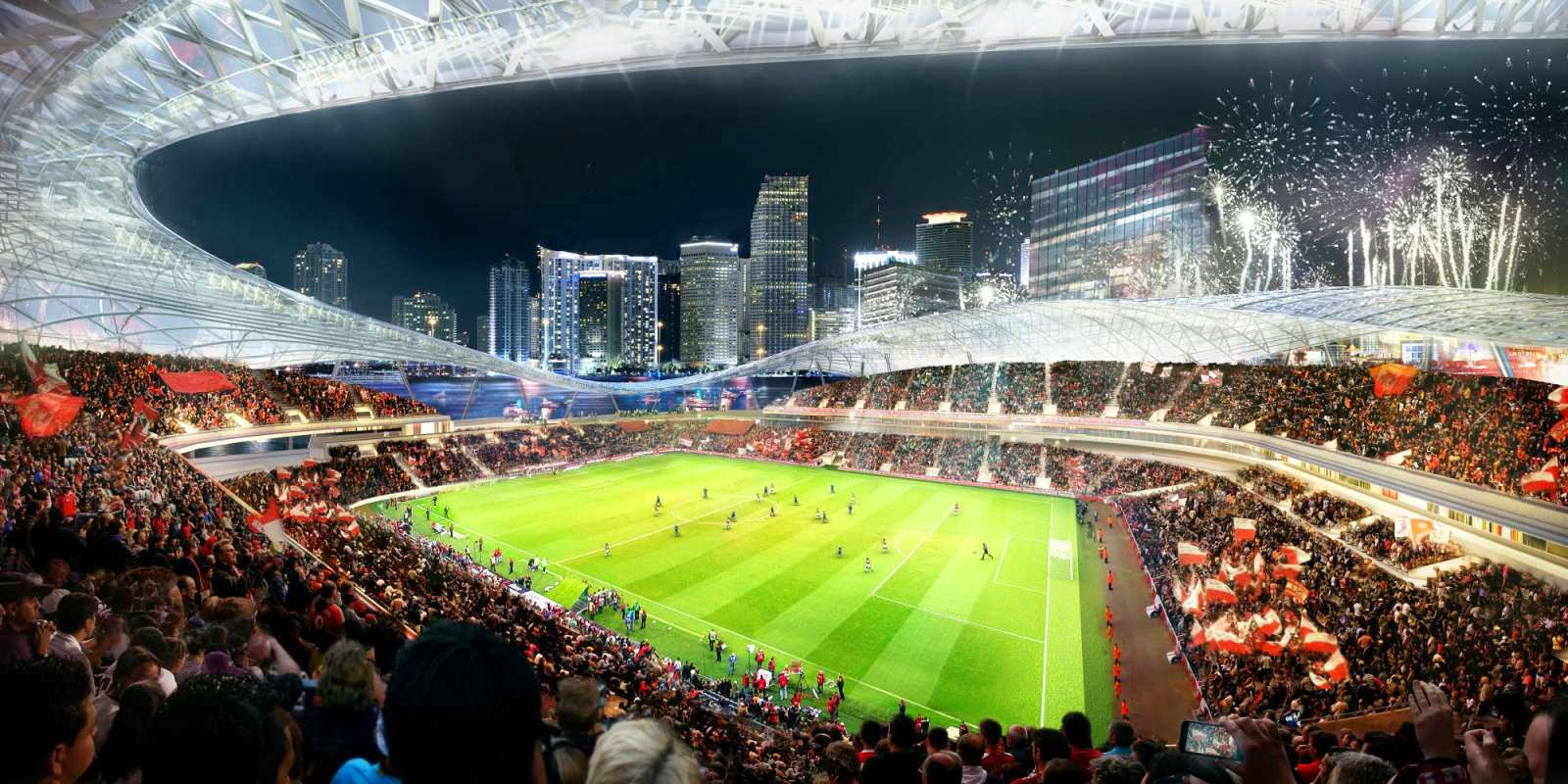Patrocinada por el 03-Estadio-Port-Miami por Arquitectonica por David Beckham-