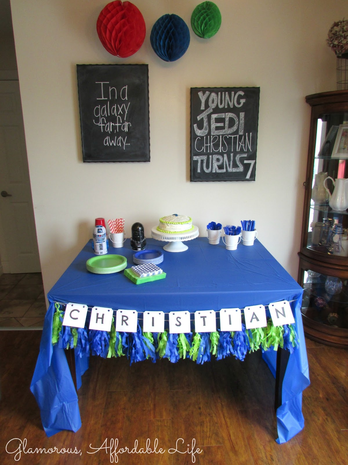 Glamorous, Affordable Life: { Star Wars 7th Birthday Party }