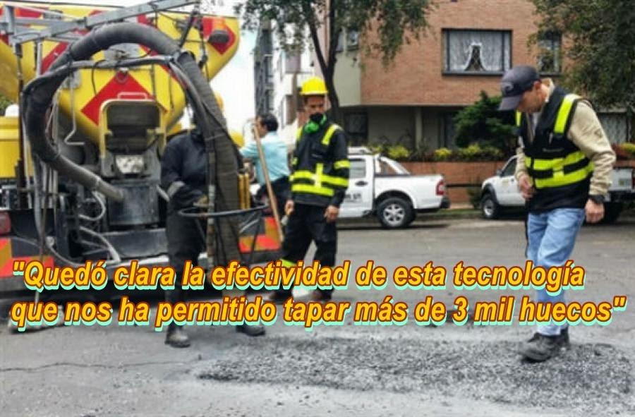 BOGOTÁ: Desempeño de Máquina Tapahuecos ha sido extraordinario
