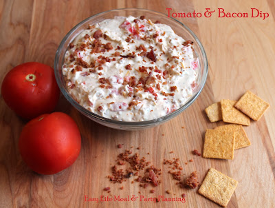 Tomato & Bacon Dip - Easy Life Meal & Party Planning