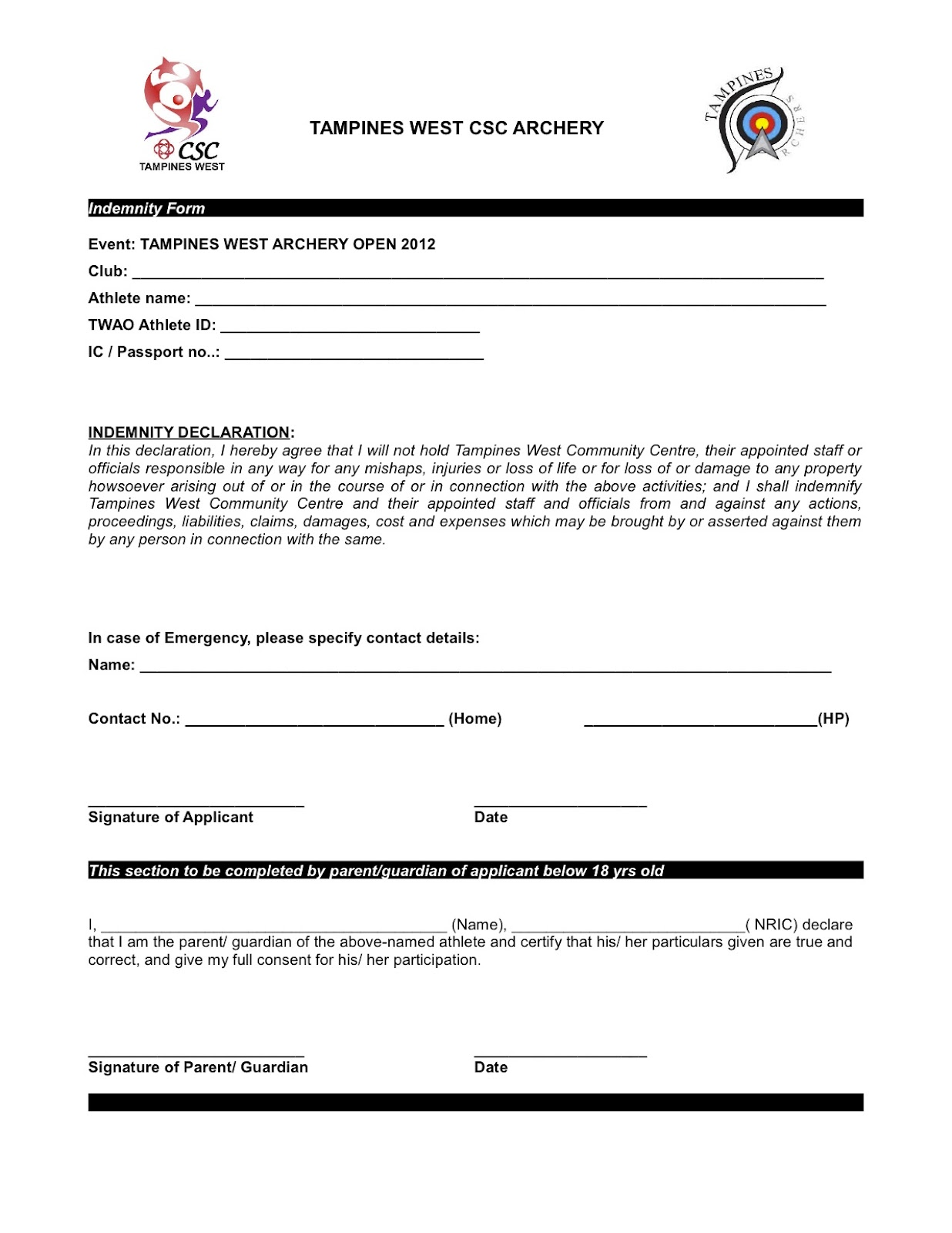 Doc460595 Sample of Indemnity Form Indemnity Agreement – Deed of Indemnity