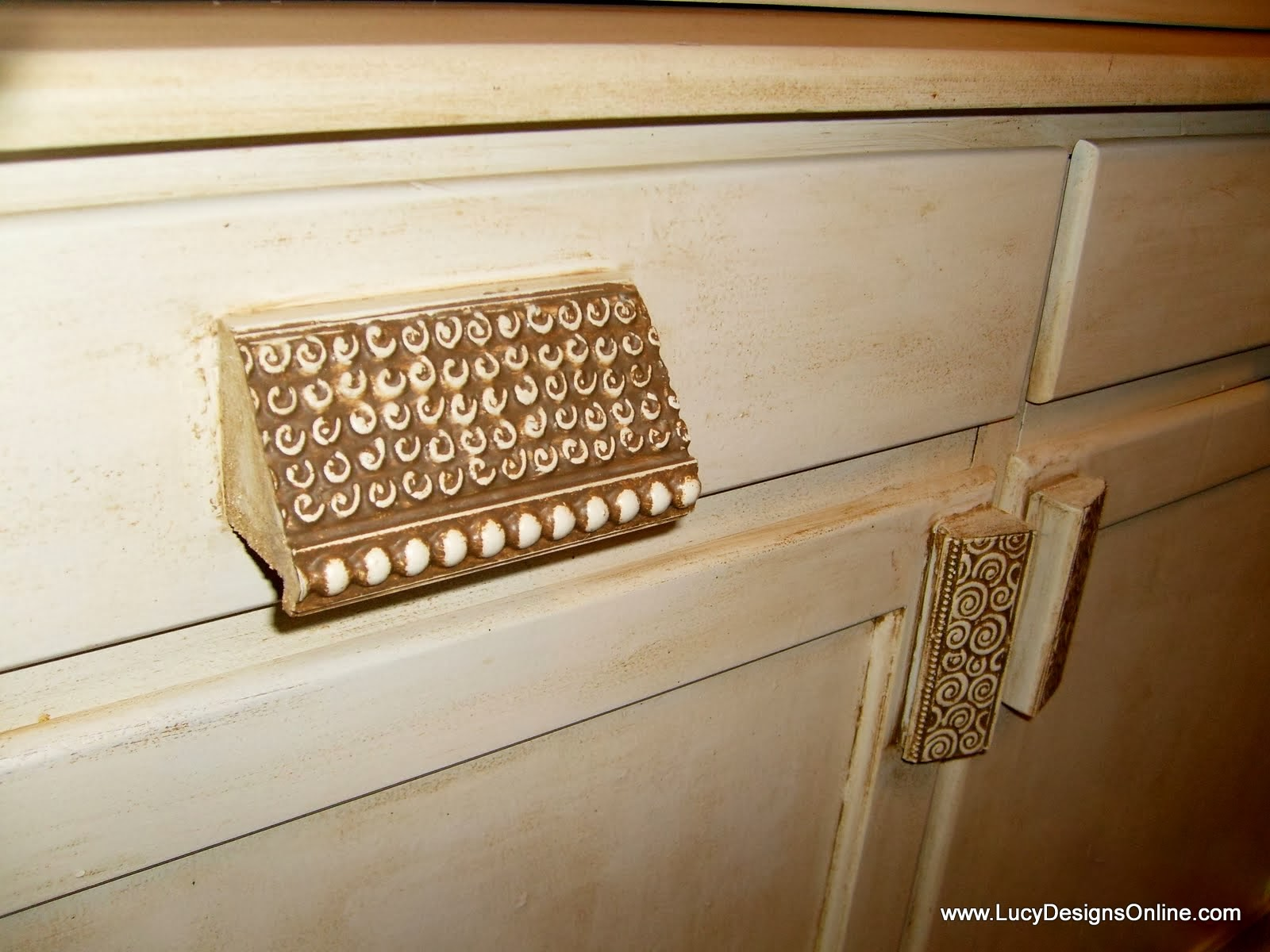 decorative molding as drawer pulls