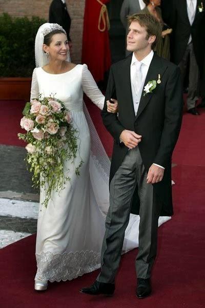 Clotilde courau wedding
