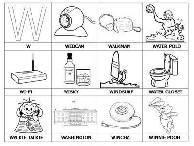 4 Dibujo Laminas Con Dibujos Para Aprender Palabras Y Colorear