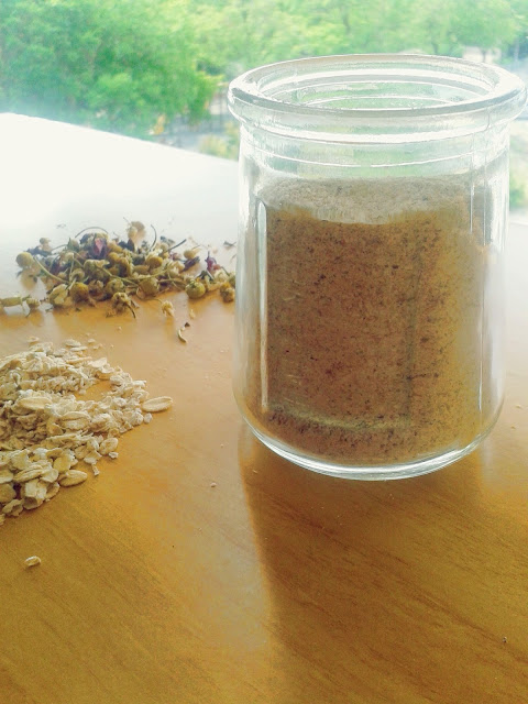 chamomile and oats cleansing grains